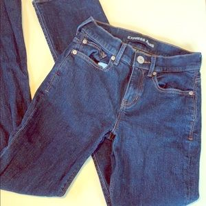 Express blue jeans size 0